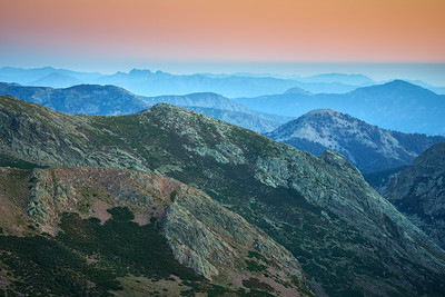 Sunset from Ciottolu a i mori, 2000 meters