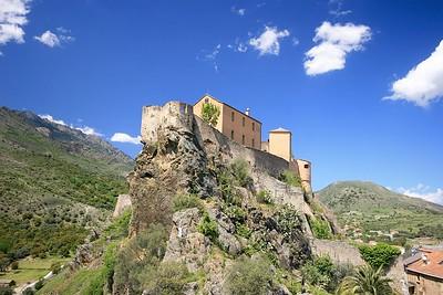 De citadel. Corte, Corsica, Frankrijk.