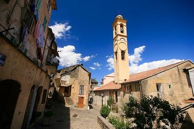 Pittoresk Corte. Corsica, Frankrijk.