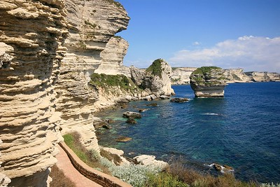 De kliffen van Bonifacio. Corsica, Frankrijk.