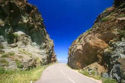 De mooie route van de Cap Corse. Corsica, Frankrijk.