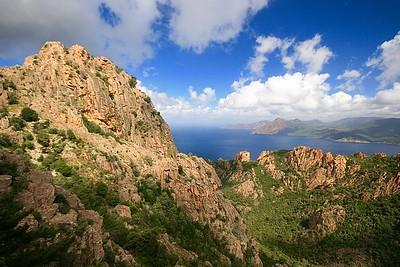 Calanques de Piana. Corsica, Frankrijk.