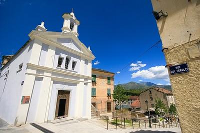 Kerkje in Corte. Corsica, Frankrijk.