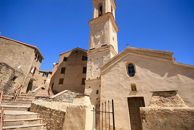 Het bergdorp Soveria. Corsica, Frankrijk.
