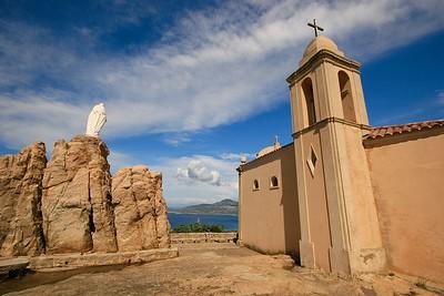 Chapelle de Notre Dame de la Serra. Calvi, Corsica, Frankrijk.