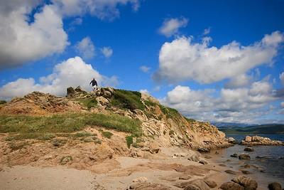 Aan de wandel in de buurt van Bonifacio. Corsica, Frankrijk.