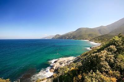 Golfe de St. Florent, Cap Corse. Corsica, Frankrijk.