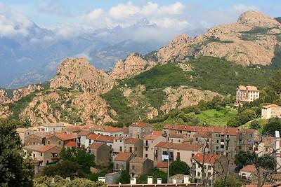 Pittoresk Piana. Corsica, Frankrijk.