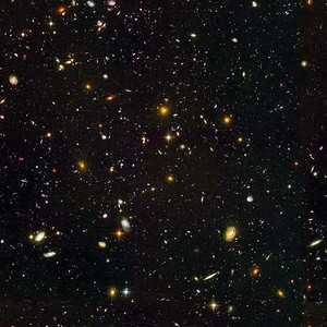 Taken with the Hubble untra-deep field telescope - infrared view.