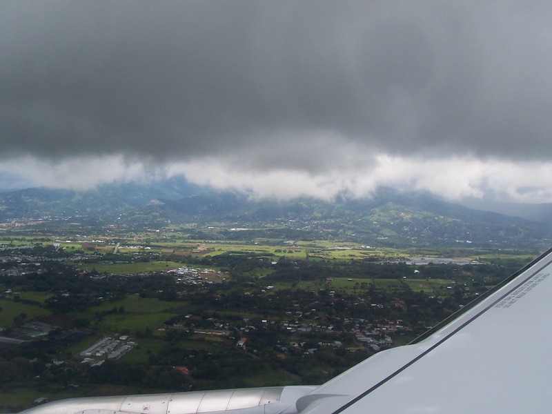 Getting ready to land in San Jose Costa Rica