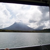 Arenal Volcano - view from lake-crossing as we leave for the next destination: Monteverde