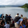 Getting ready for the first leg of the journey to Monteverde; the lake crossing.