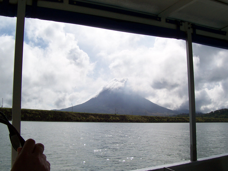 On last look at Arenal as we leave.