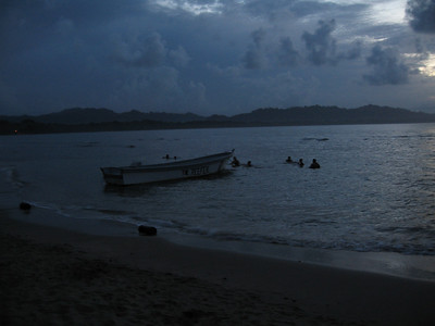 The Sea in Puerto Viejo at dusk
