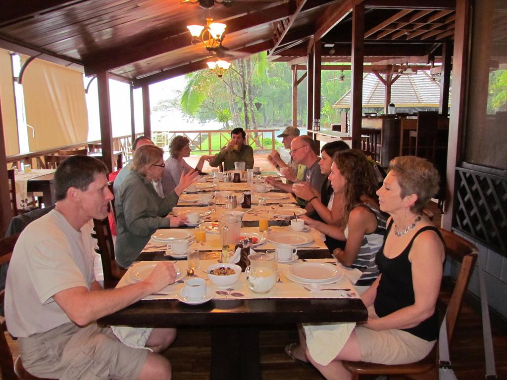 Breakfast Time at Tortuga Lodge