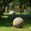 Costa Rica 2010: Osa - Large pre-Colombian stone spheres (Las Bolas) in Palmar Sur, on the trip to the Osa Peninsula