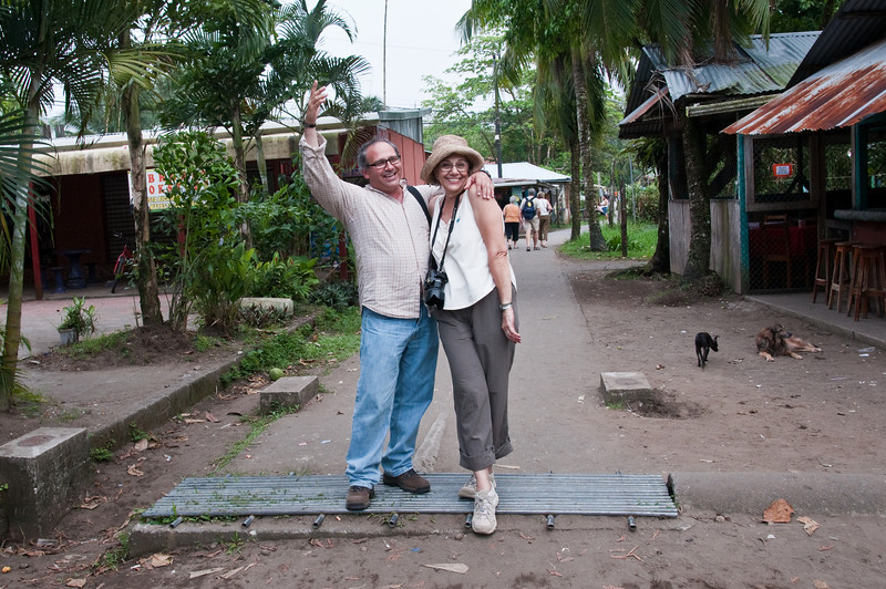 Edwin and Fern hamming it up on the main street of Tortuguero.<br /> <br /> 274-DSC_2941