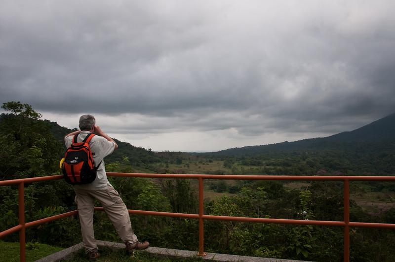 Looking at Howler Monkeys off in the distance.<br /> <br /> 030-DSC_1192
