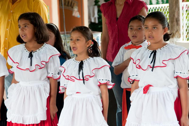 Singing their national anthem.<br /> <br /> 019-DSC_1126