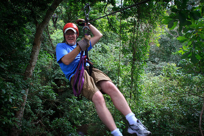 Gary Ziplining on the Congo Trail Canopy Tour
