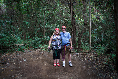 Gary and Lauralea on the Congo Trail Canopy Tour