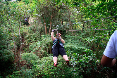 Lauralea Ziplining on the Congo Trail Canopy Tour
