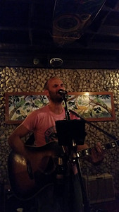 Paddy playing a gig with his band
