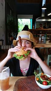Kaiya, there's a knife in your hamburger