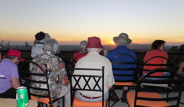 Watching the sunset at  Buena Vista lodge, Guanacasta