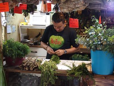 organic garden stall in the San Jose central market