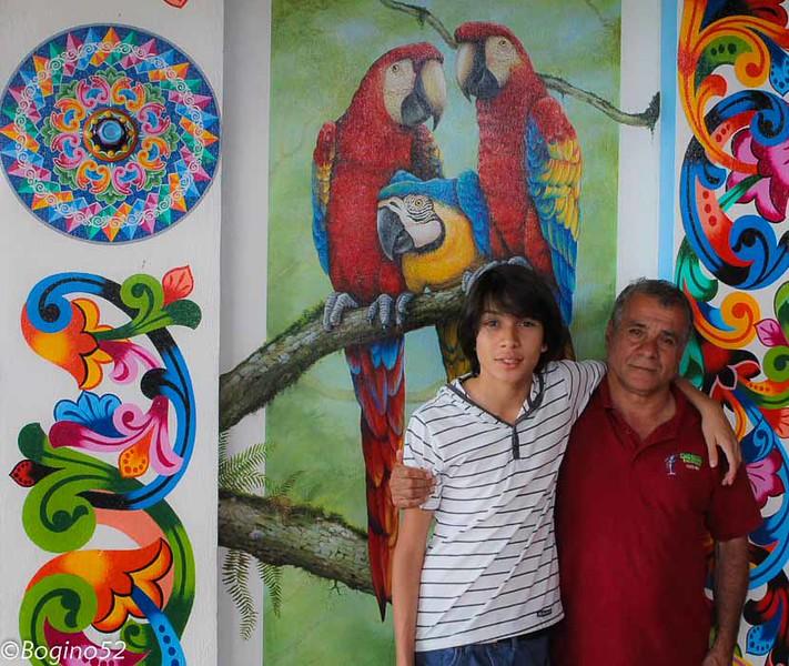 My good friend Rafa (Rafael) and his son. In Sarchi.