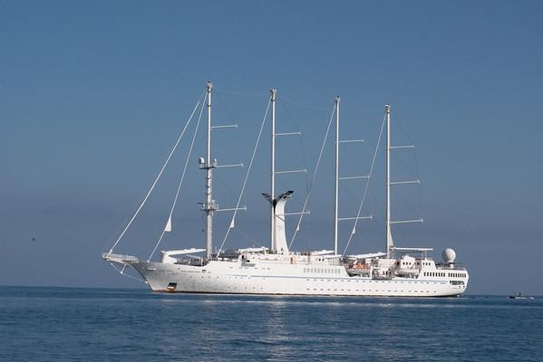 Sail powered cruise ship