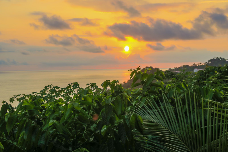 Sunset at El Avion Restaurant, Costa Rica