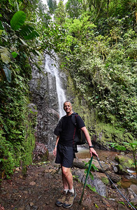 Feb. 24- March 3, 2018-  Costa Rica Feb 2018  Sunday Feb. 25th Rio Celeste at the Tenorio Volcano On the way we viewed a sloth and 2 Toucans On the way back some images of Arenal Volcano shrouded in clouds  Monday Feb. 26th Zip lining - Rainforest hike Views of Arsenal Volcano. Leaf cutter ants. Howler monkeys. Sloth. Viper. Waterfall. Spider web. Termite nest in tree.   Tuesday Feb. 27th Trip to Mawamba Lodge in Tortugero.  First part was trip to breakfast facility- beautiful flowers/ birds there The fiver trip to Lodge- alligators/ herons along way Squirrel monkey on Lodge property River trip into the town of Tortugero. Colorful buildings/ residents. And iguanas in trees.  Walk back on path paralelling beach- spotted parrot pair.  Great squirrel monkey spotting on our property at sunset.   Wed Feb 28th.  Spider monkey before breakfast Morning garden walk-3 toed sloth, pepper, food dye tree,green and red frogs Afternoon- boat tour into forest- cayman , spider monkeys in trees, Jesus Christ lizards, turtles, birds Evening- walk through rainforest- frogs-spiders-insects  Thursday. March 1- Morning at Mawamba- Early morning butterflies  Friday March 2- Pics around Rios Tropicales Lodge Cabecar Hike  Sat March 3- Pics around Rios Tropicales Lodge - including rafters going by on Pacuare River Rest of rafting trip  Photographer- Robert Altman Post-production- Robert Altman