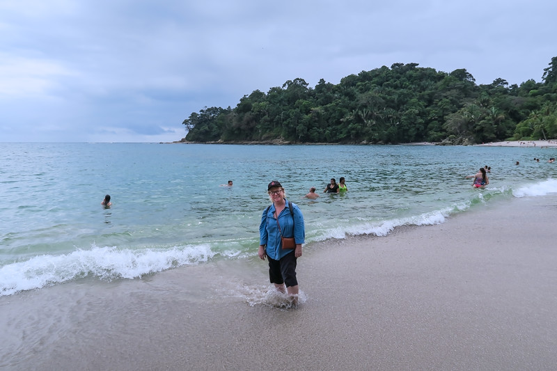 Sharon at Manuel Antonio National Park, Costa Rica