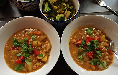 Red Curried Chickpeas