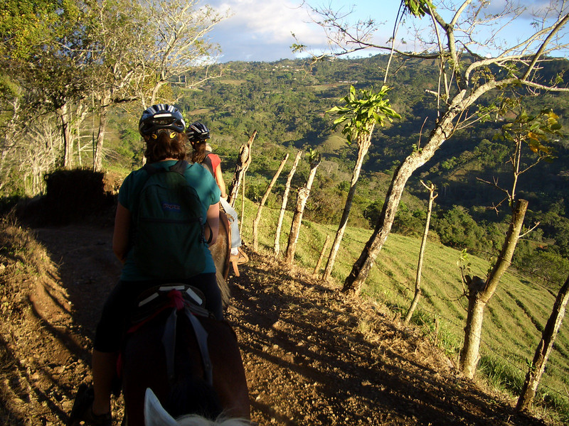 RIding horses through the farmlands of the Nicoya peninsula