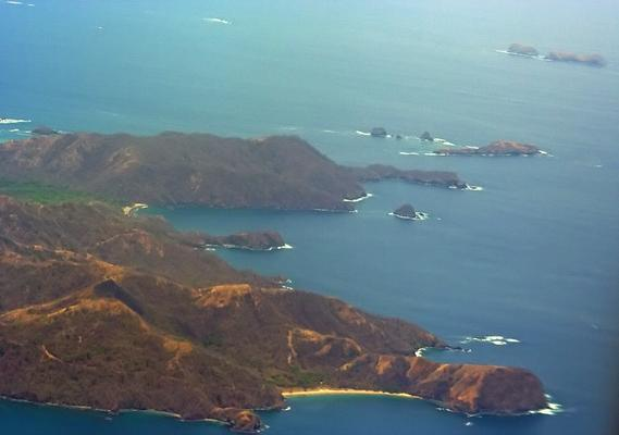 View from thep plane over Guanacaste, CR