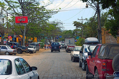 Town of Tamarindo, a surfer town