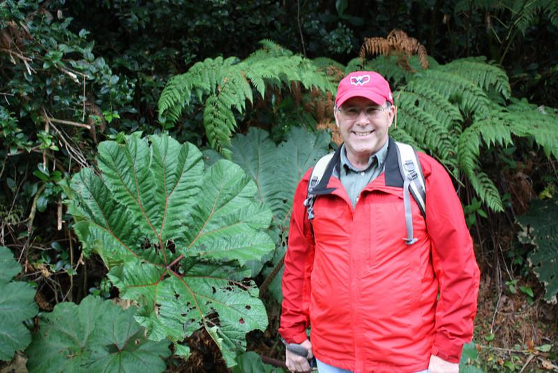 Chet on the path to Poas volcano