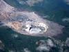 Poas Volcano from plane