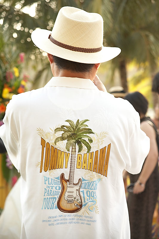 """The wedding invitation stated that guests should dress """"Tommy Bahama"""" style."""