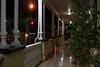 The veranda of the Brittania Hotel in the capital San Jose, where we spent three nights
