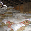 Sacks full of coffee waiting to be shipped around the world.  Starbuck's is a major purchaser.