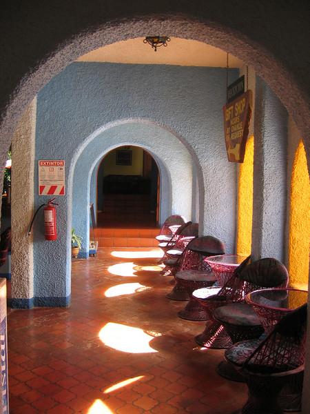 Hallway near the bar/pool area.