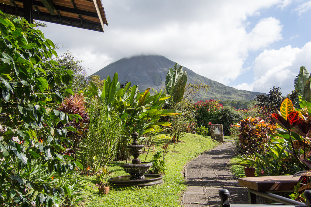 View out the back of our hotel near the Arenal volcno..