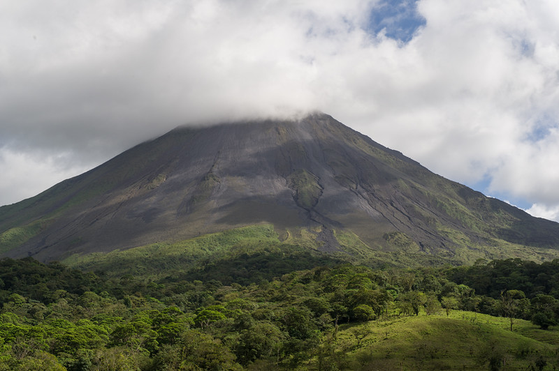 Arenal volcano. We never saw the very top of it...