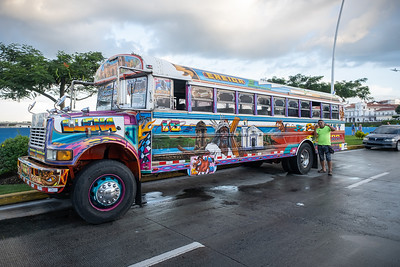 Public bus in Panama City, Panama