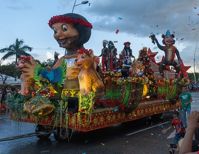 Christmas parade in Panama City, Panama.
