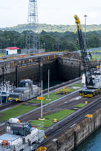 Panama Canal passage on the Star Pride cruise ship.
